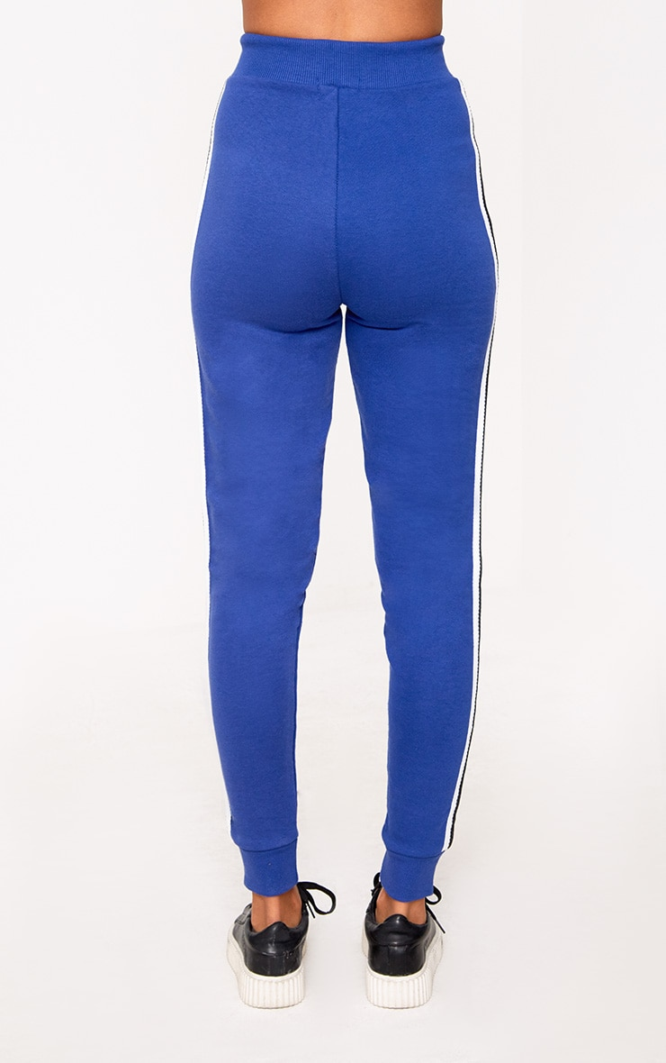 Cobalt Side Stripe Joggers 4