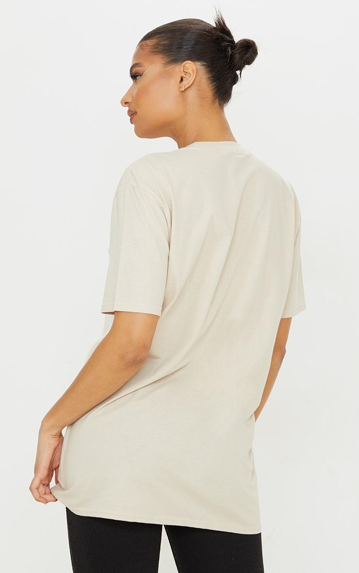 PRETTYLITTLETHING Stone Worldwide Small Print T Shirt 2