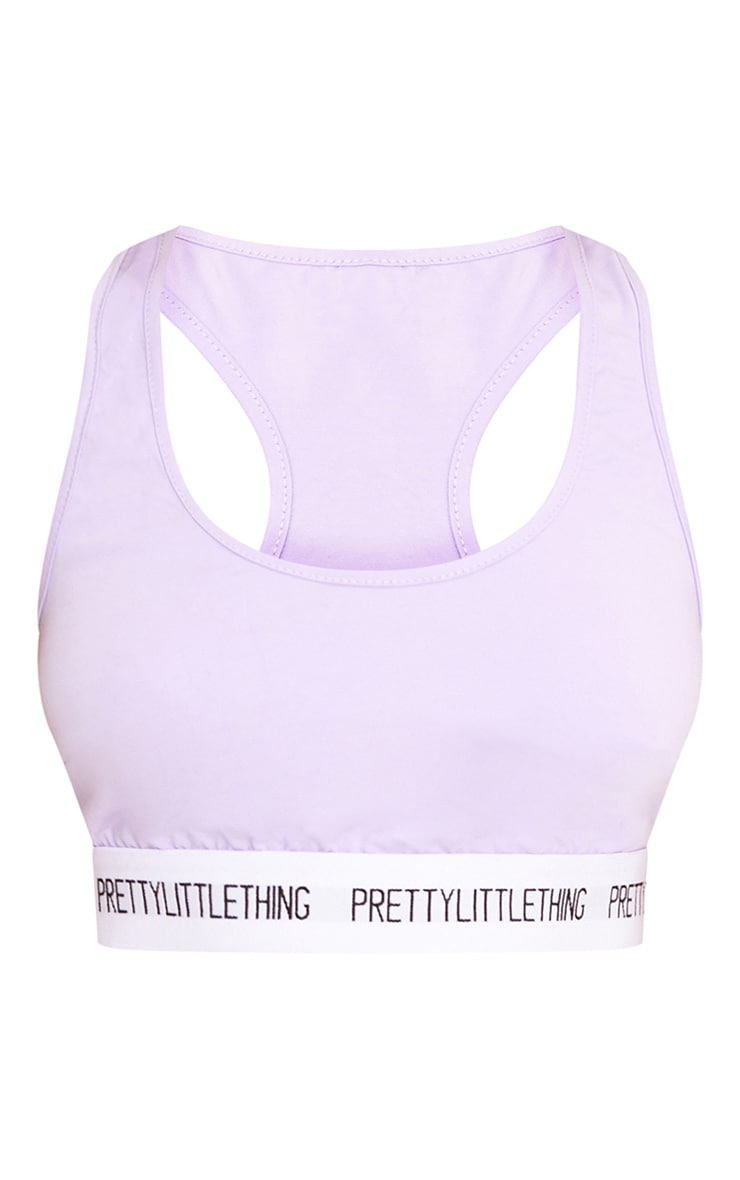 PRETTYLITTLETHING Lilac Sports Bra 3
