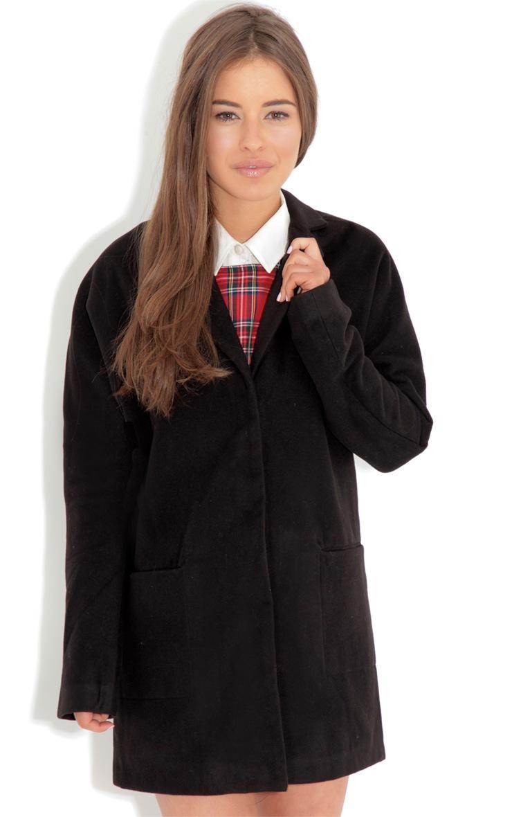 Andrej Black Oversized Boyfriend Coat-16 3