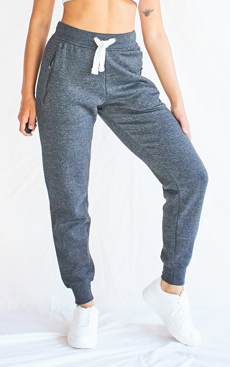 Charcoal Grey Thick Drawstring Joggers 2