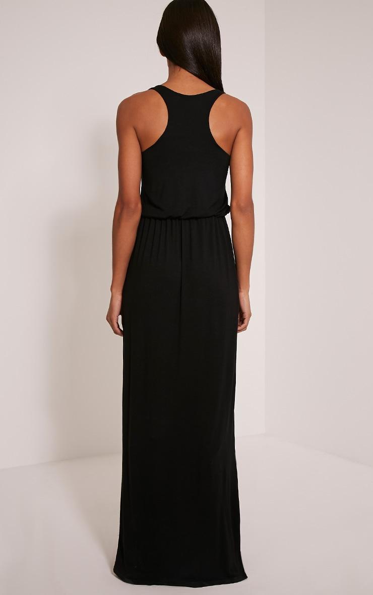 Basic robe dos nageur maxi noire 2
