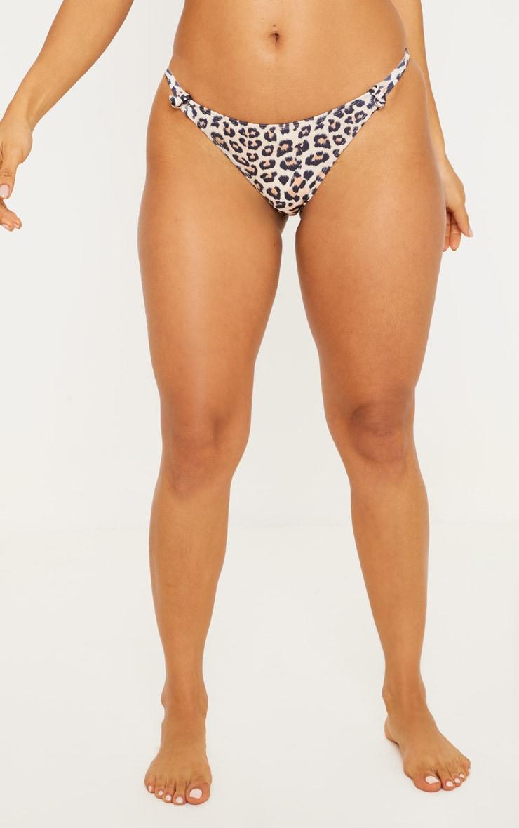 Leopard Knot Bikini Bottom 2