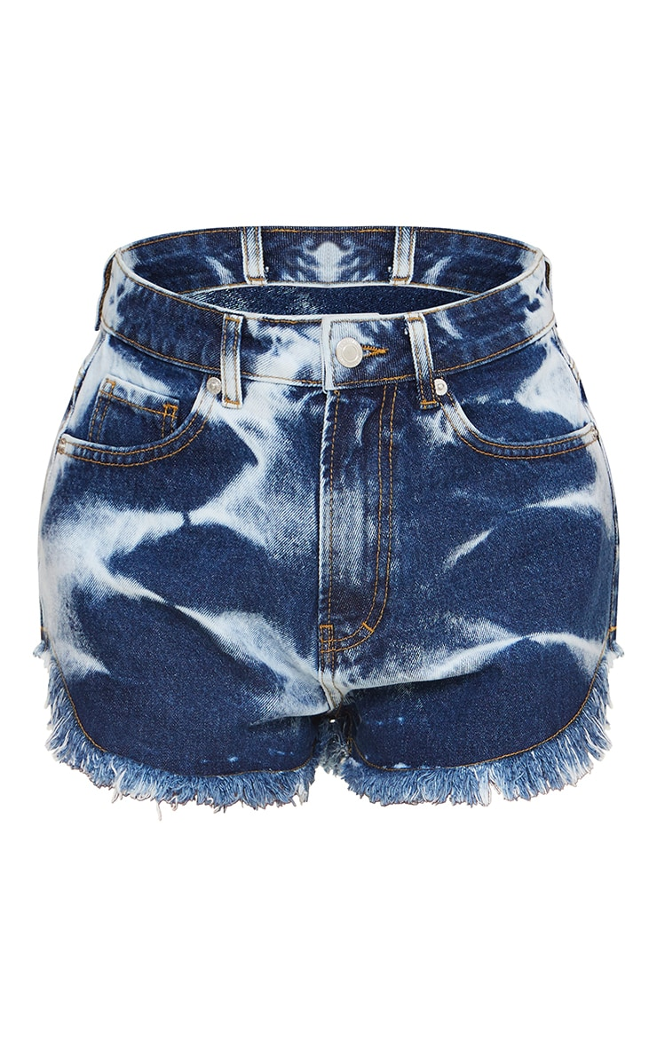 Multi Mom Denim Frayed Hem Shorts 6
