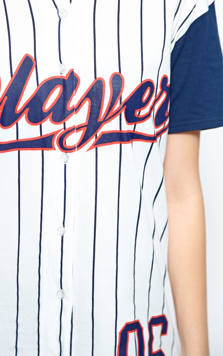 Winston Navy & White 'Player' Baseball T-Shirt 5