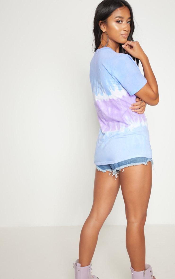 Petite Blue Tye Dye T-Shirt  2