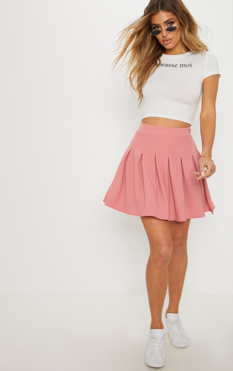 Blush Pleated Tennis Skirt 1