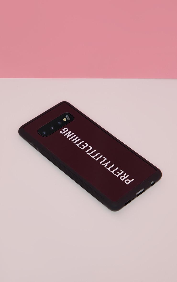 PRETTYLITTLETHING Black Logo Samsung S10 Phone Case 2