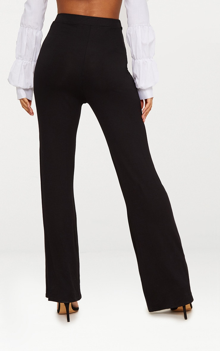 Basic pantalon ample en jersey noir 4