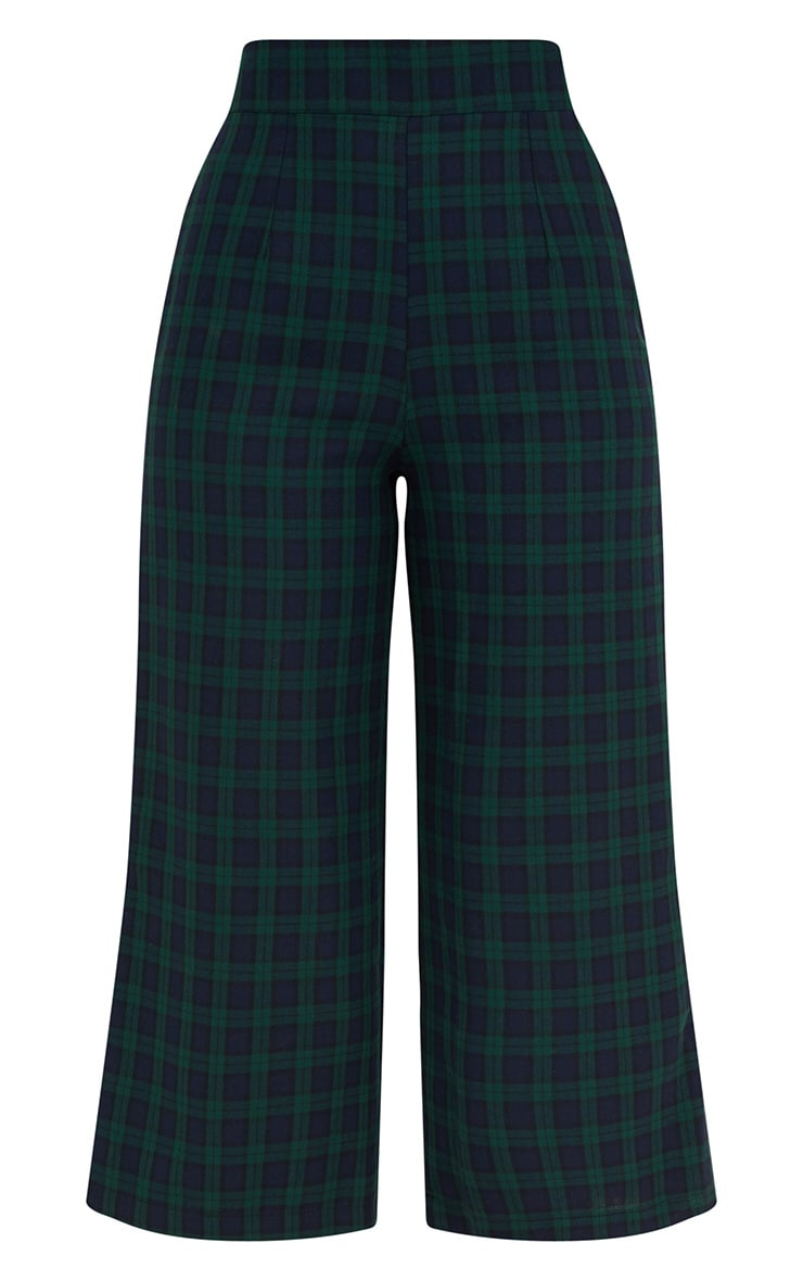 Navy Check High Waisted Culottes 2