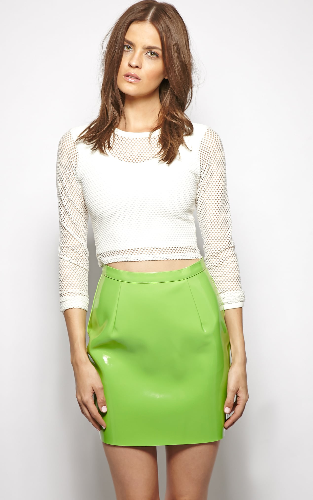 Natalya Green PVC Mini Skirt 4