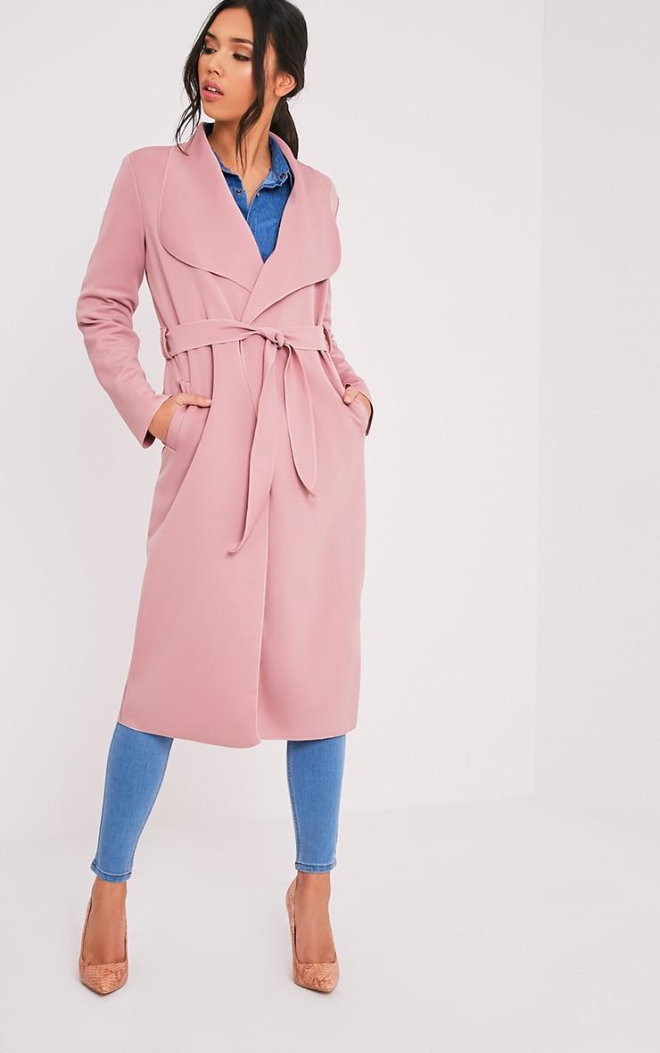 Paisie manteau effet cascade en néoprène rose 5