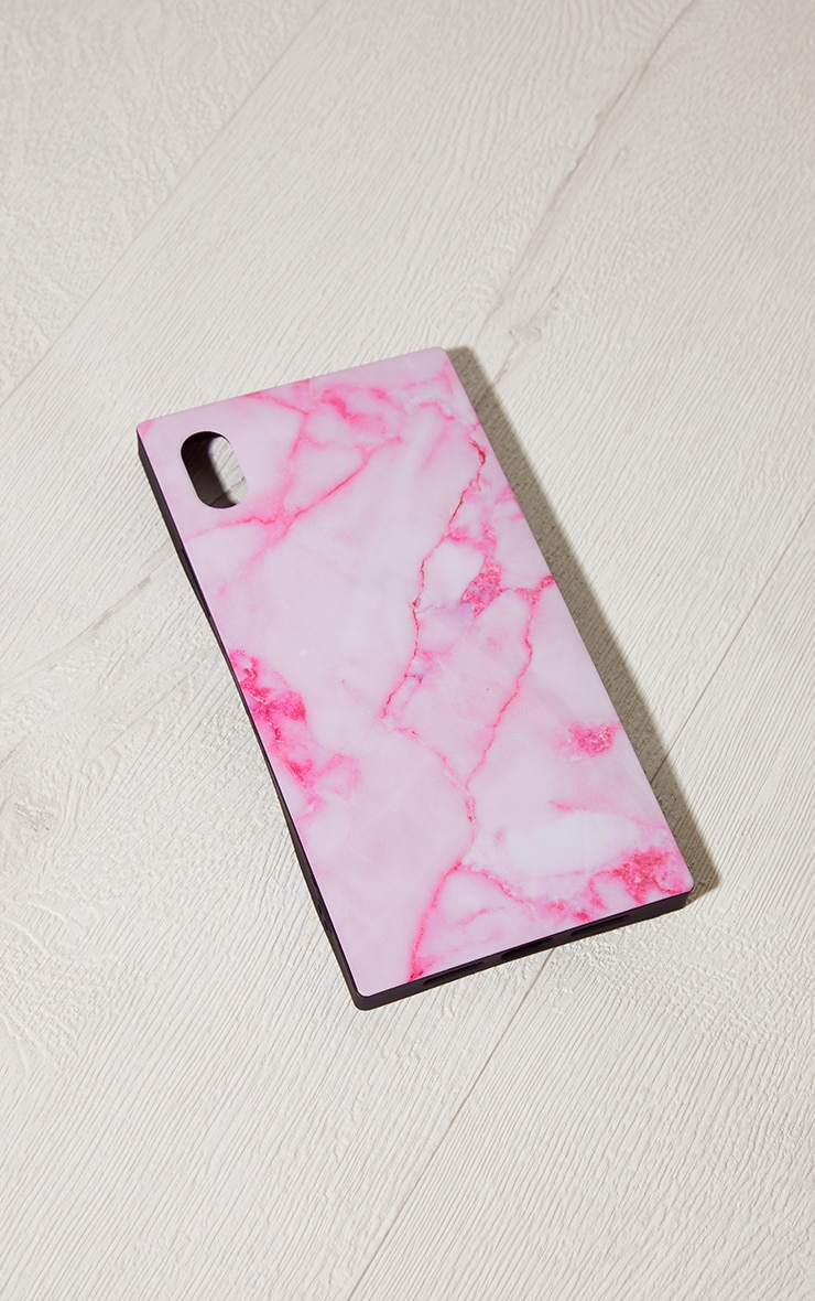 Idecoz Blush Marble Square Iphone XR Case 1