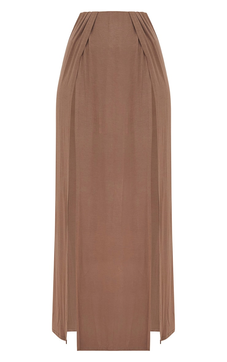 Mocha Double Split Maxi Skirt 3