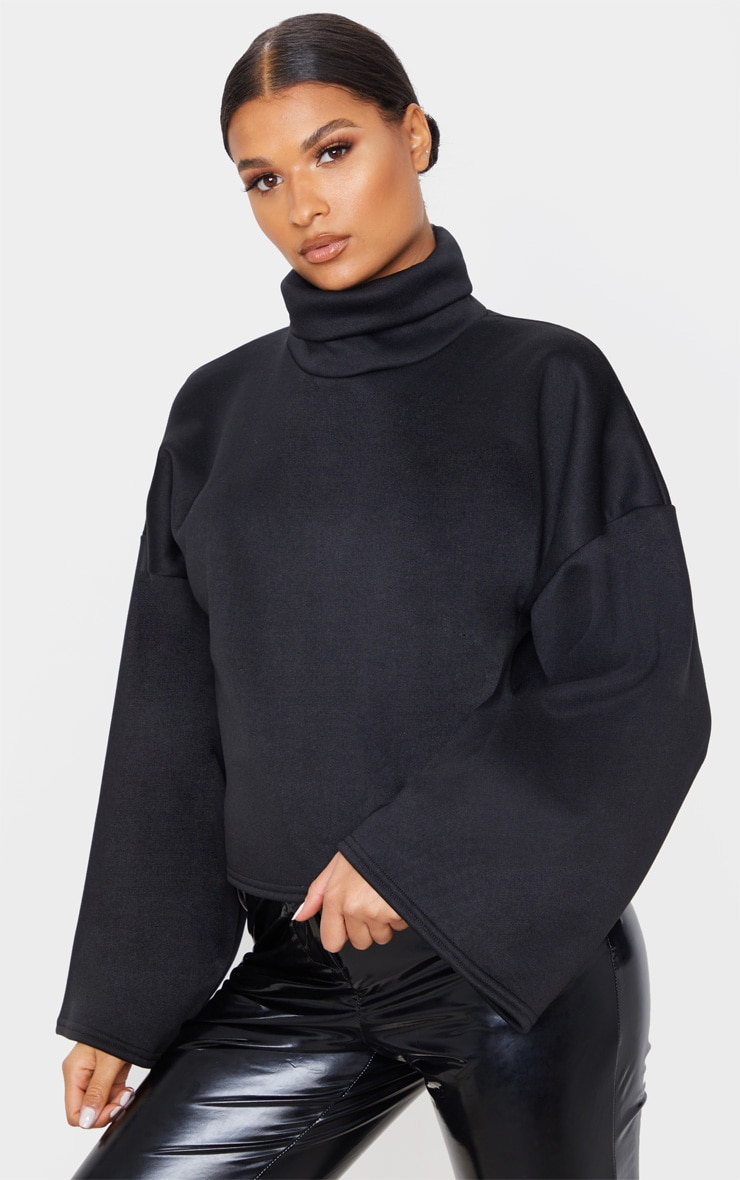 Black Fleece Roll Neck Sweater 1