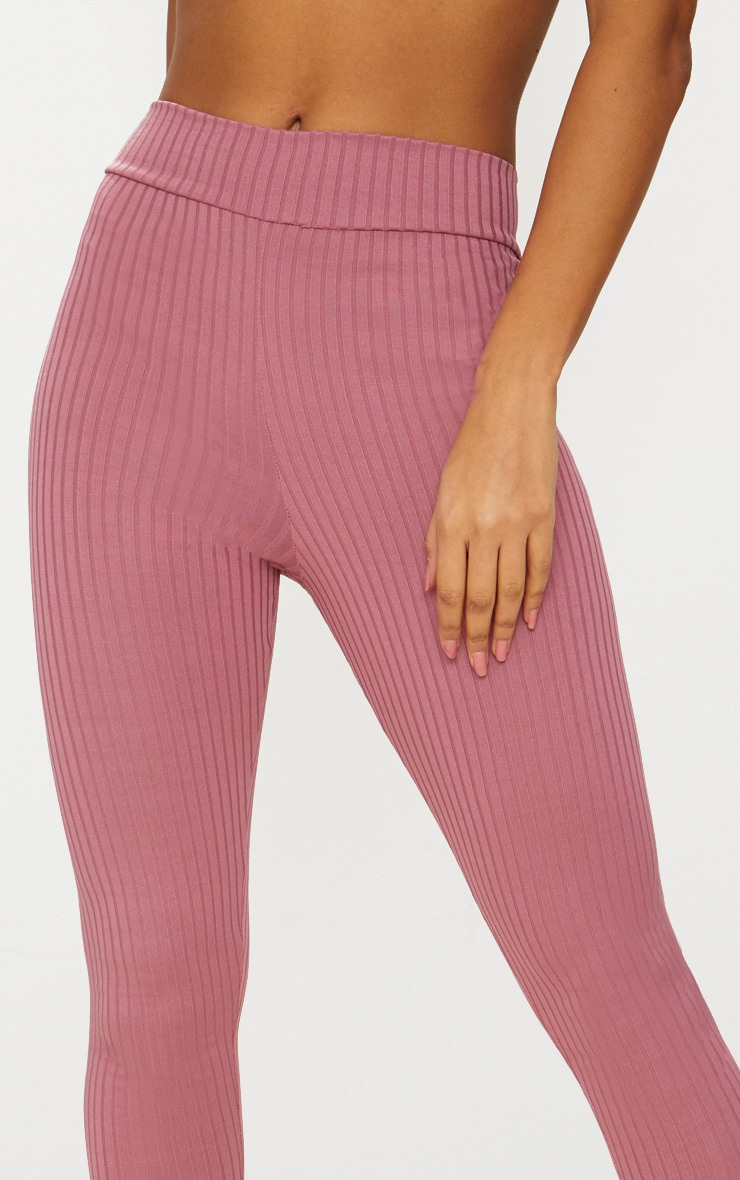 Harlie Rose Ribbed High Waisted Leggings 5