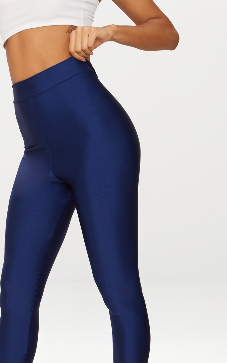 Navy Disco High Waisted Leggings 5