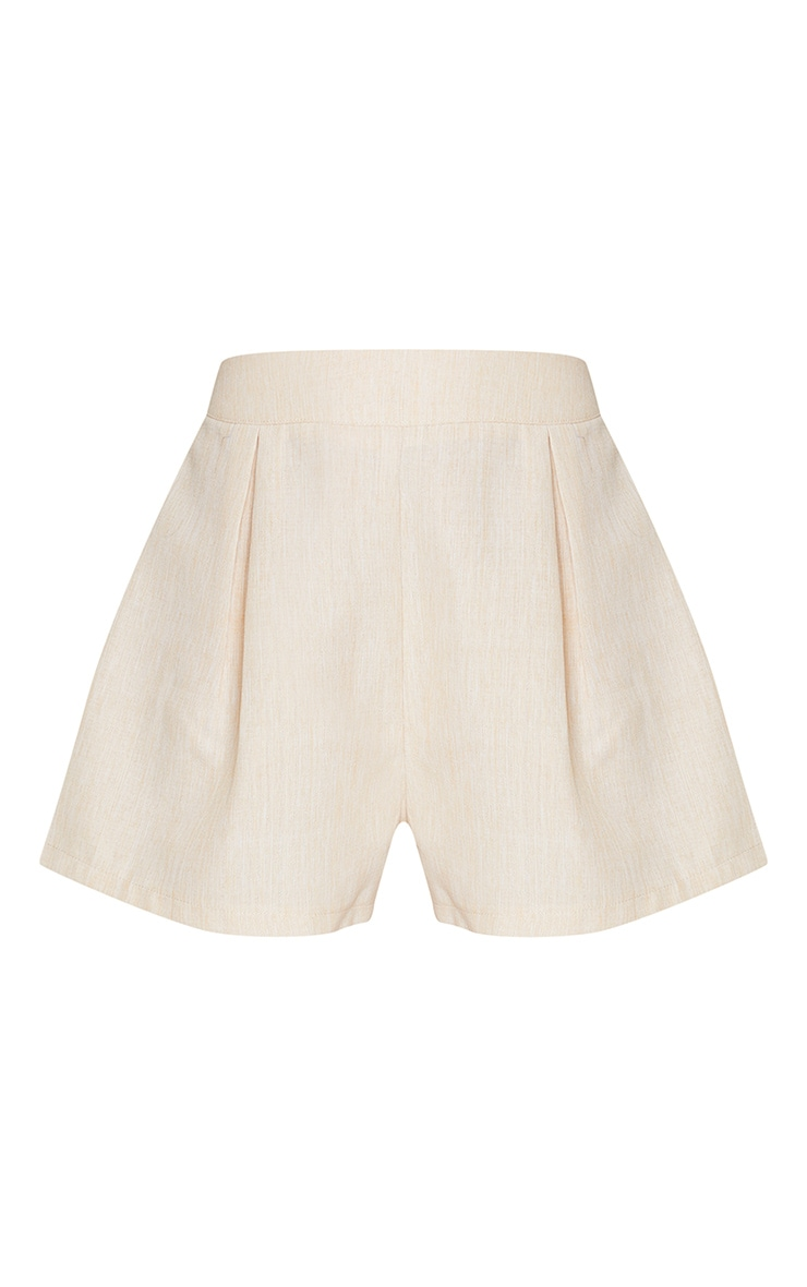 Stone Woven Textured Shorts 6