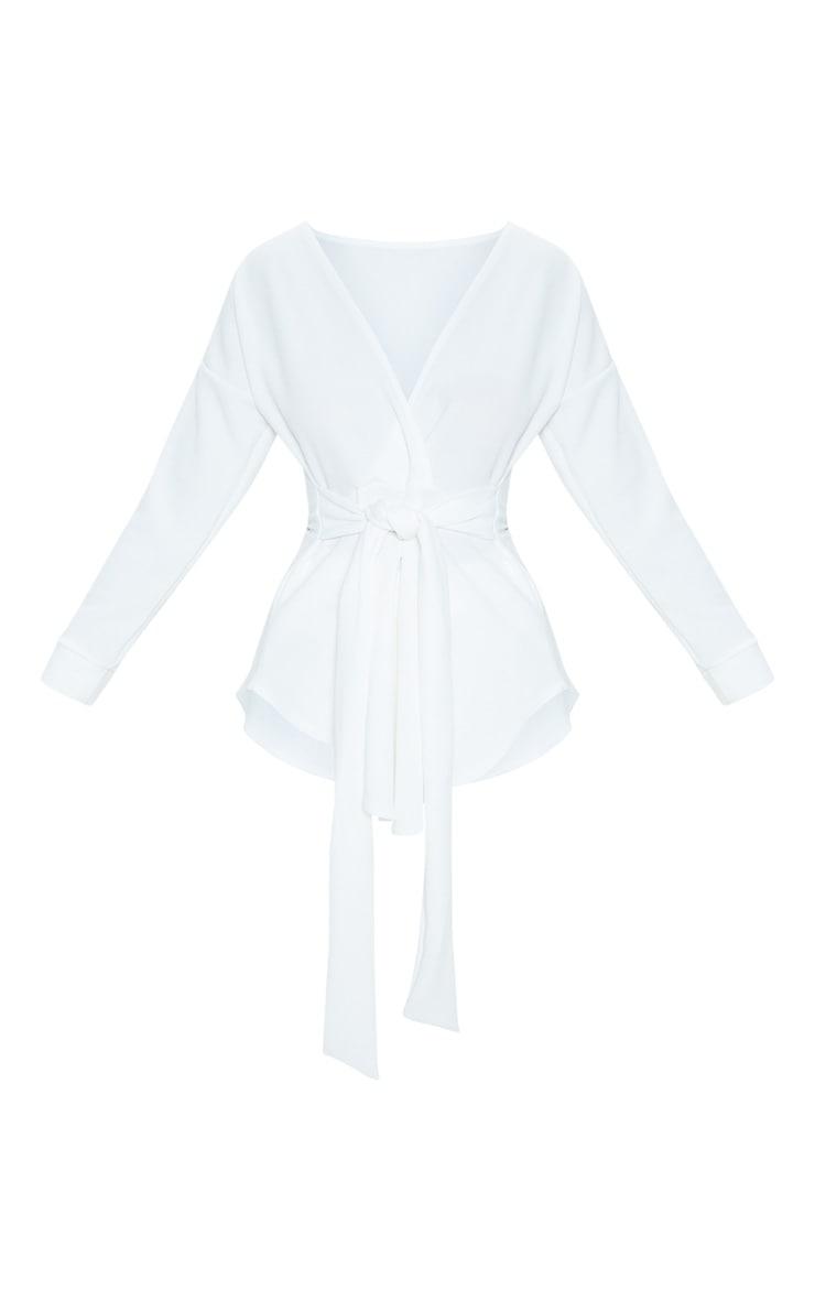 White Tie Waist Blouse 3