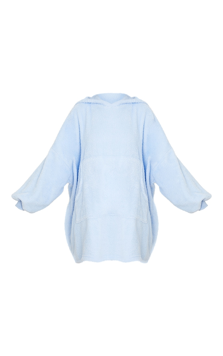 Baby Blue Borg Hooded Blanket 5