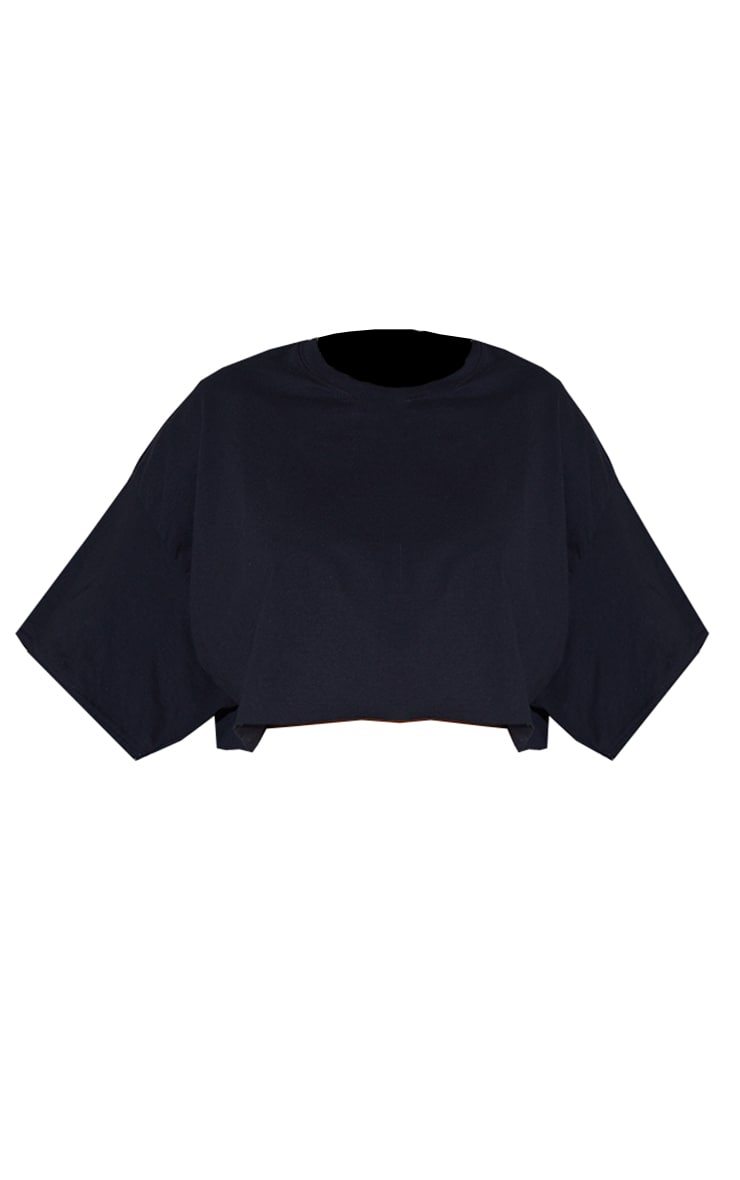 Plus Black Ultimate Oversized Crop T Shirt 5