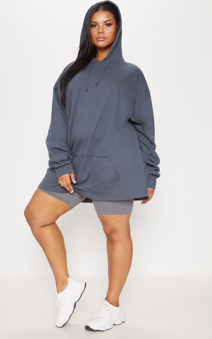 Plus Charcoal Oversized Hoodie 4