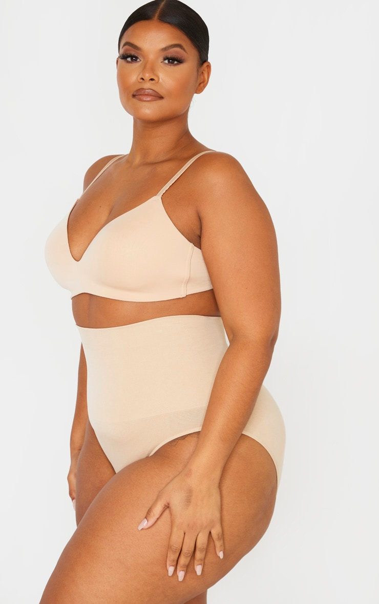 Plus Nude Seamless High Waist Control Shapewear Brief 2