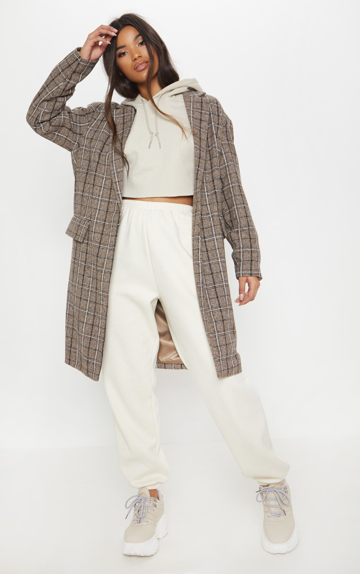 Brown Checked Coat 4