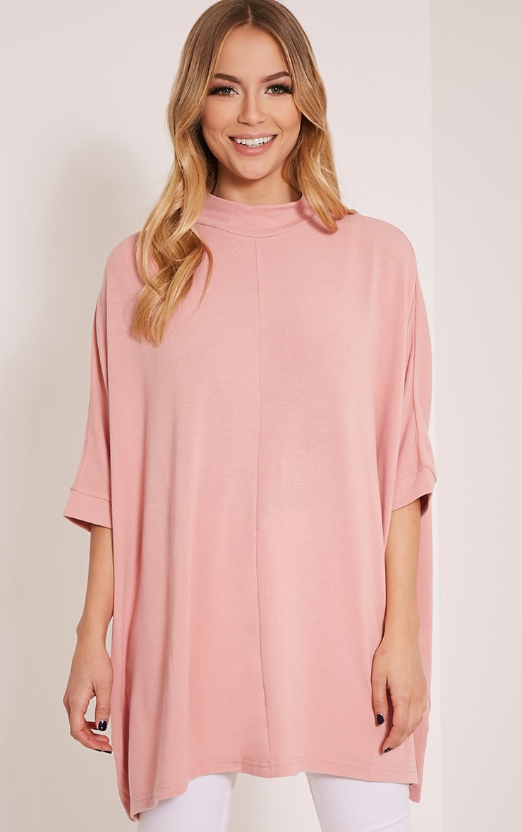 Lottia Blush Oversized Batwing Jumper 1