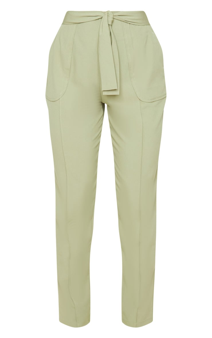 Sage Woven Tie Front Skinny Pants 3