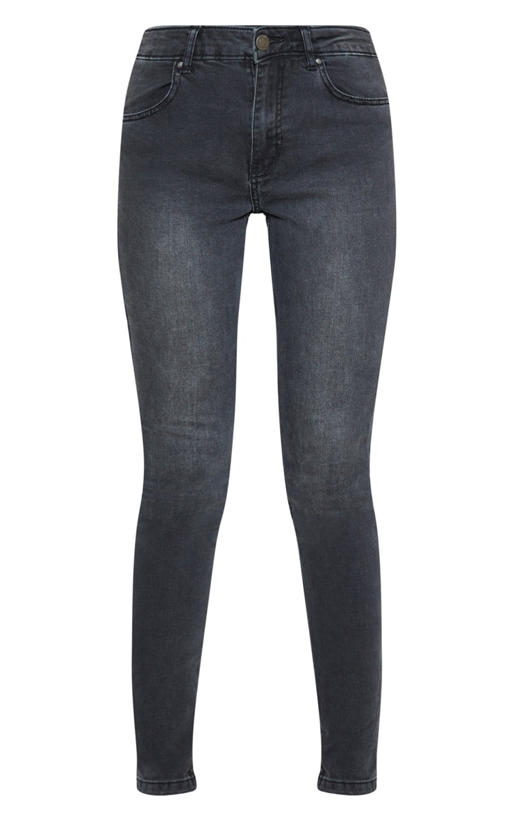 Jean skinny gris anthracite à 5 poches 3