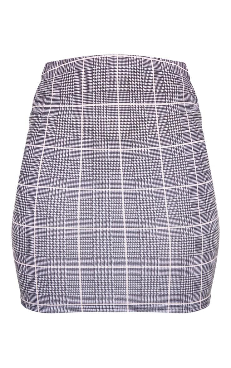 Grey Check Mini Skirt 3