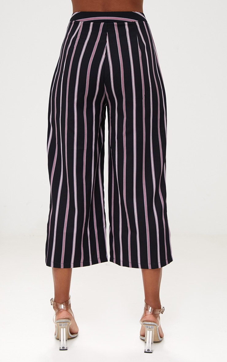 Red Stripe Suit Culottes 4