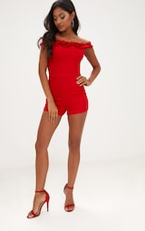 0070be32e01d Red Crepe Frill Romper