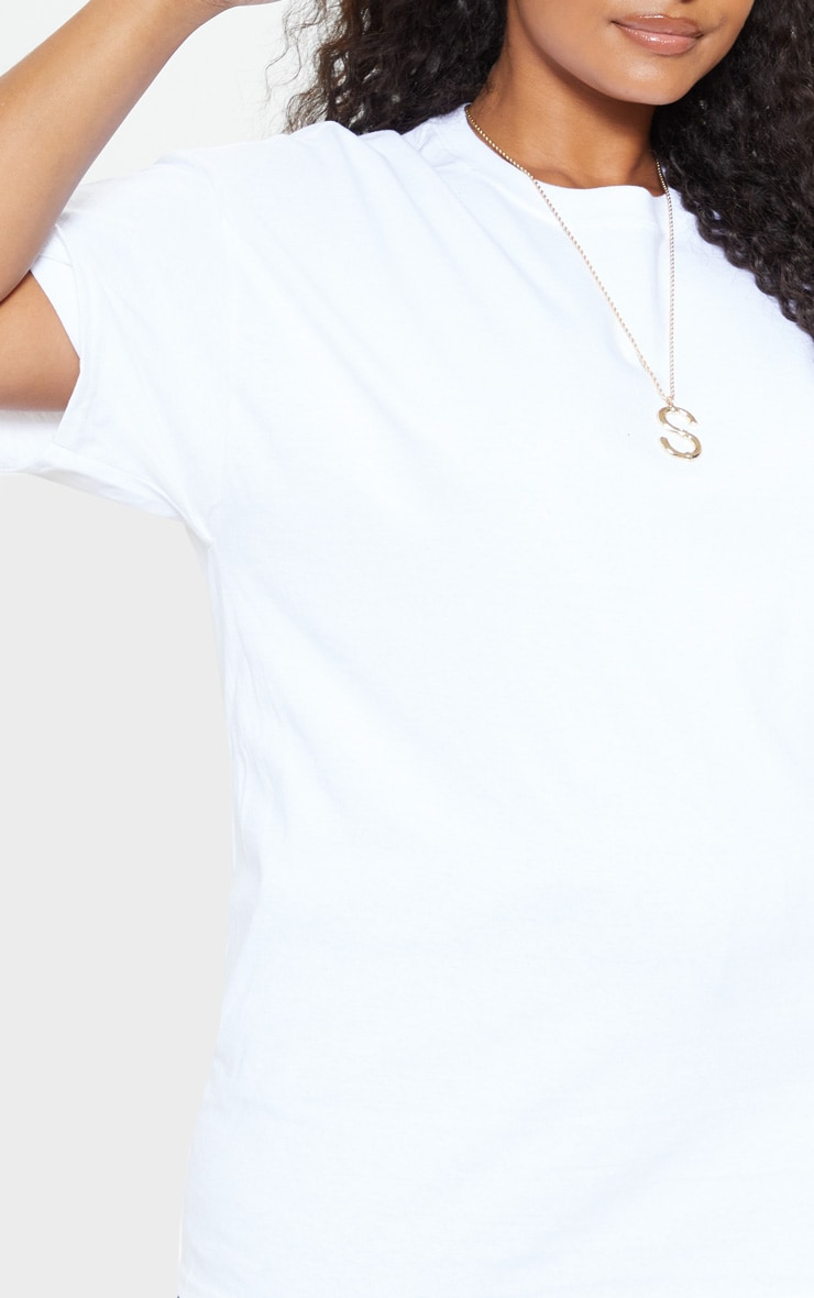 Plus White Oversized Boxy T Shirt 4