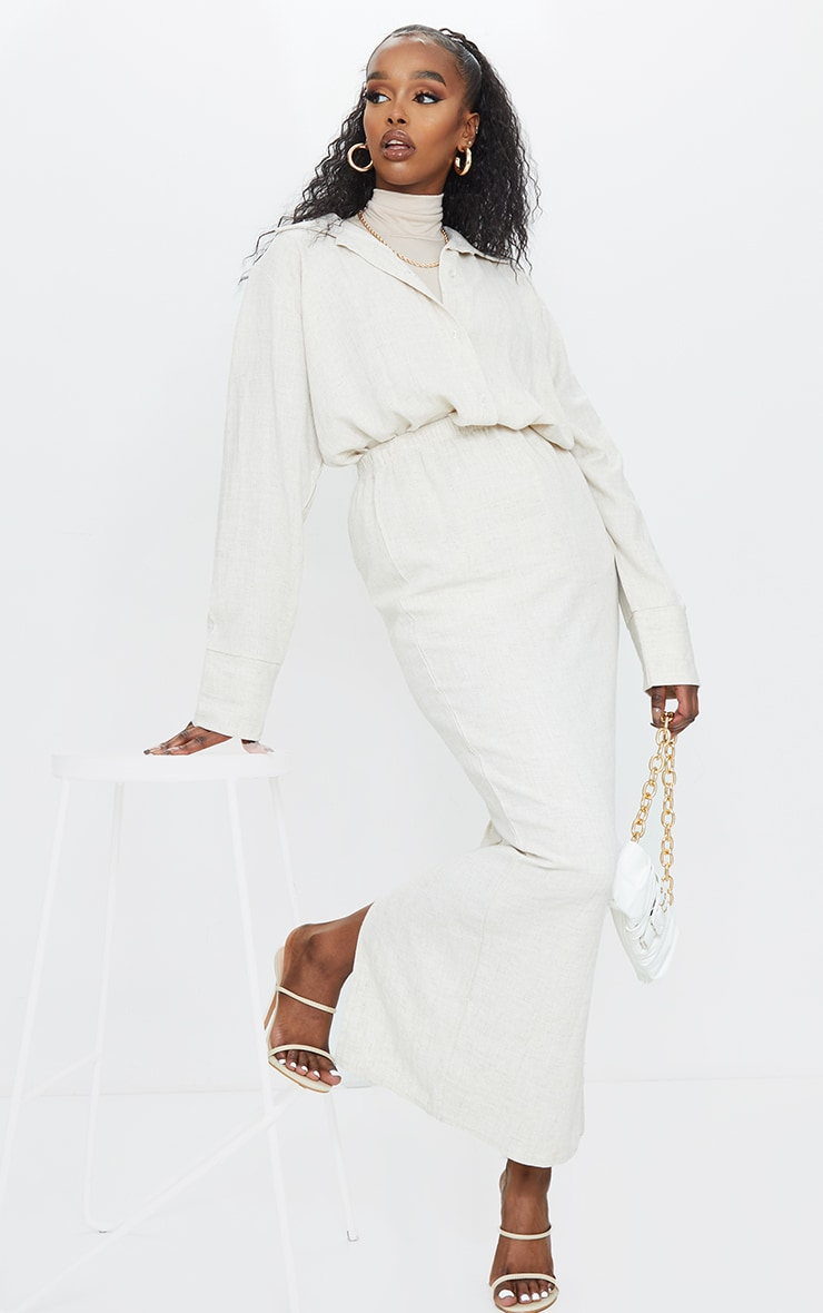 Stone Woven Midi Skirt 1