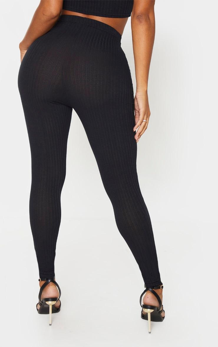 Shape - Legging noir légèrement côtelé à taille haute 4