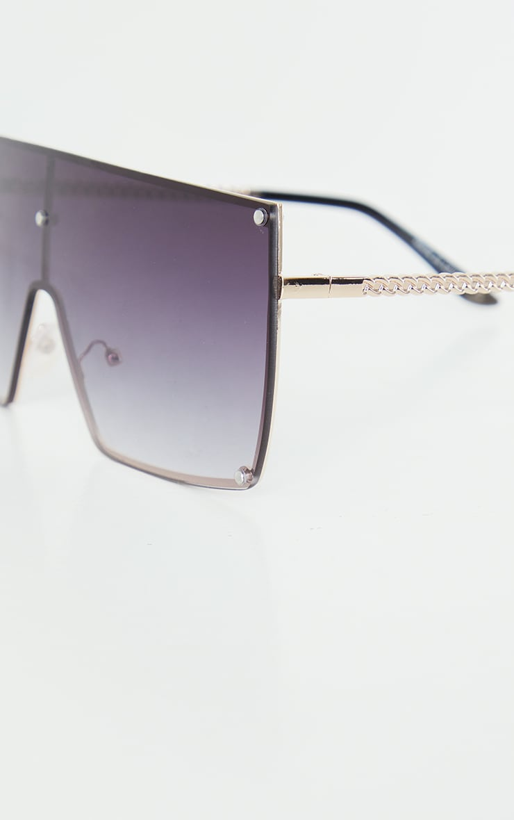 Black Ombre Oversized Square Frame Sunglasses 3