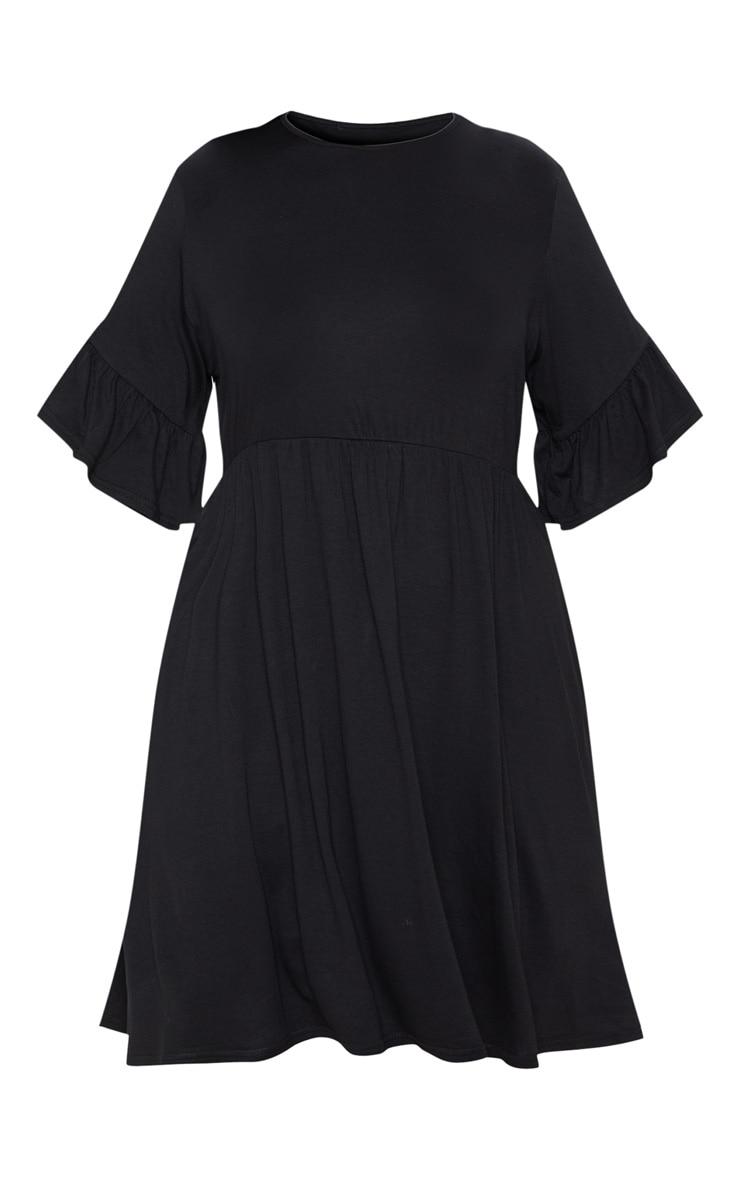 Plus Black Frill Detail Smock Dress 3