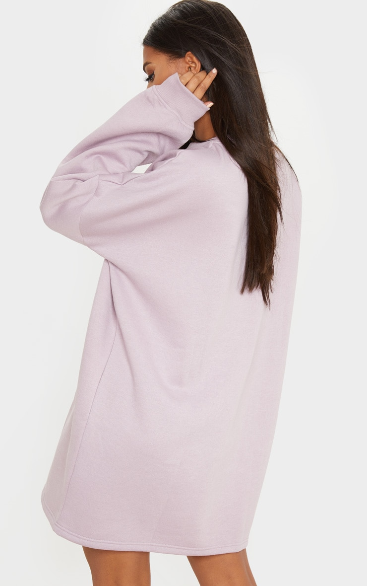 Dusty Lilac Oversized Sweater Dress 2