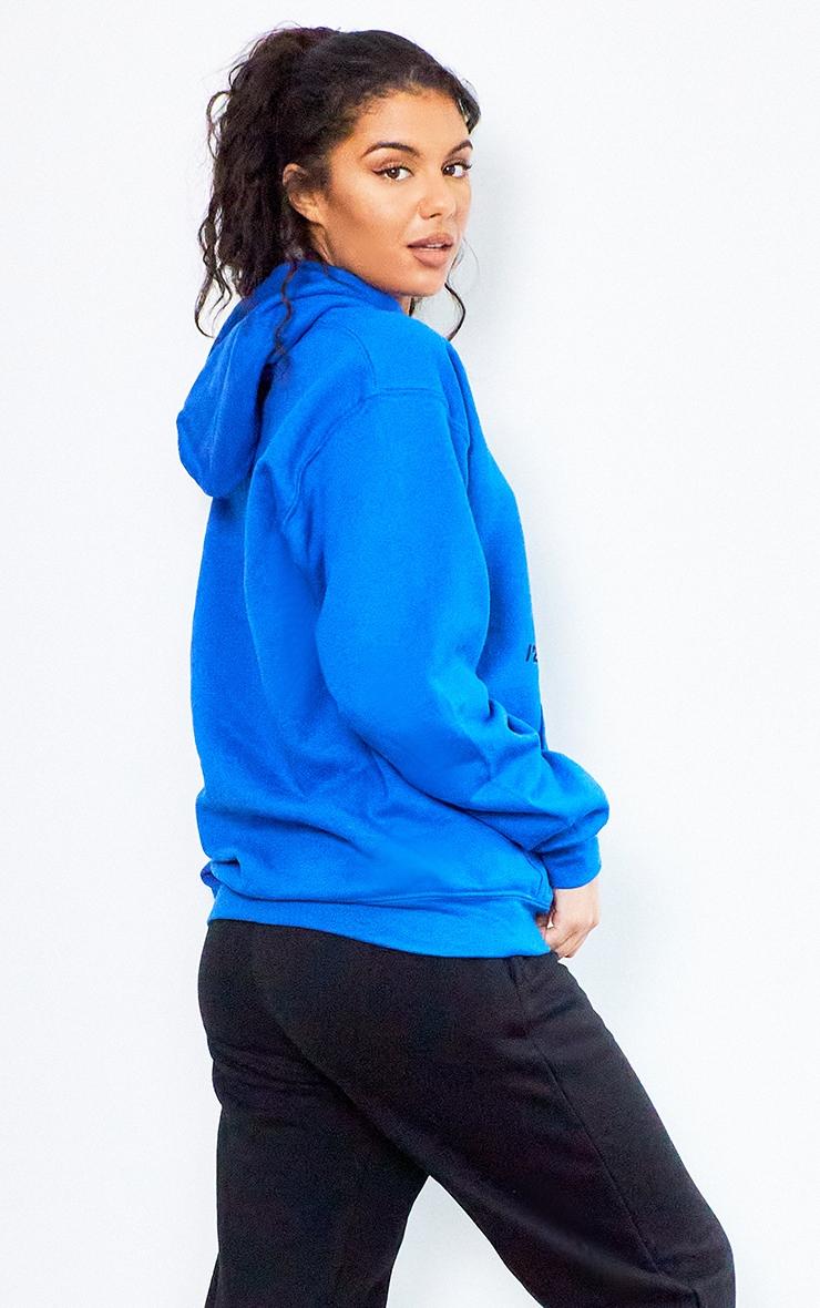 Royal Blue Ultimate Slogan Hoodie 2
