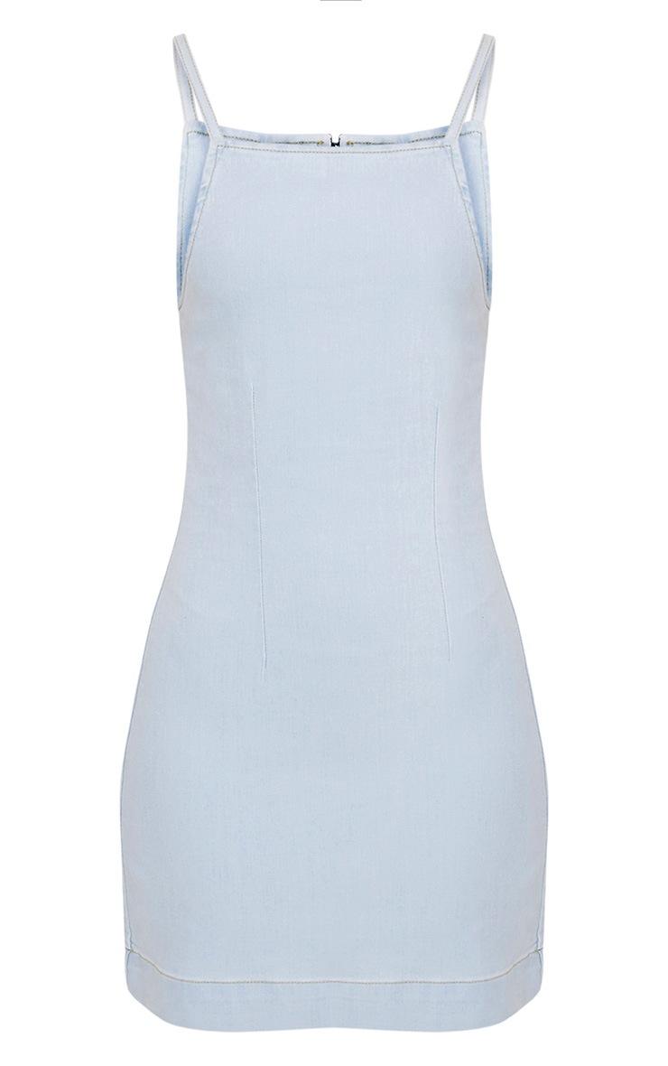 Lakin Light Wash Denim Pinafore Dress 3