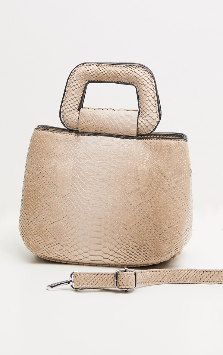 Beige Snake Mini Bag 3