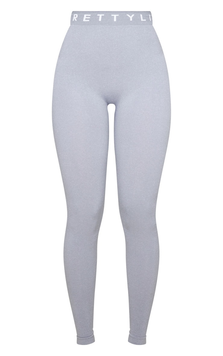 PRETTYLITTLETHING Grey Seamless Leggings 5