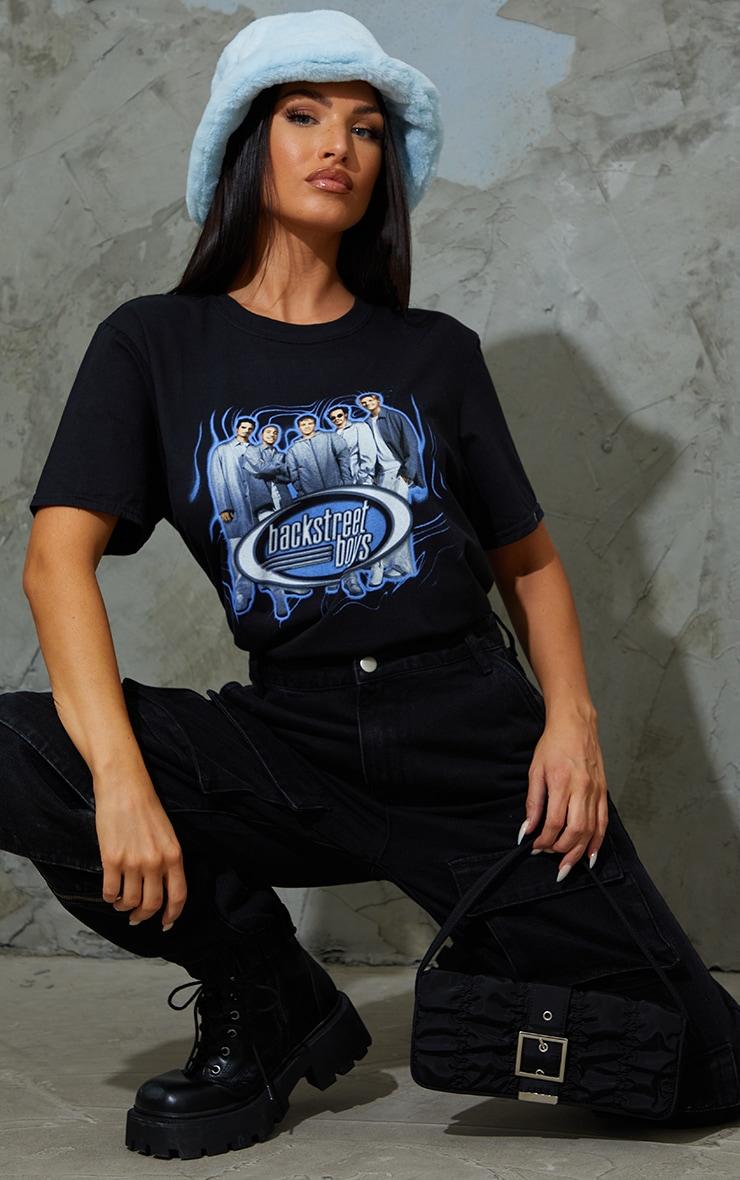 Black Backstreet Boys Printed T Shirt 3