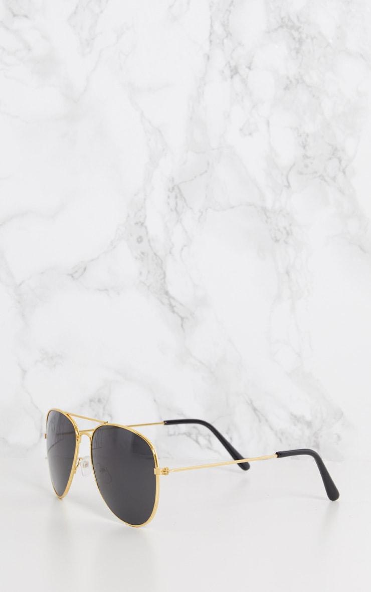 Gold Metal Aviator Sunglasses 5