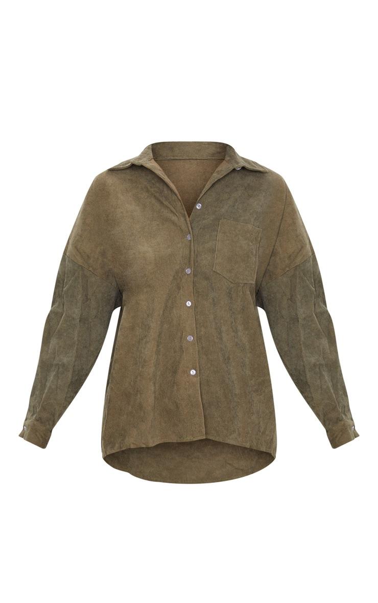Khaki Cord Shirt 3