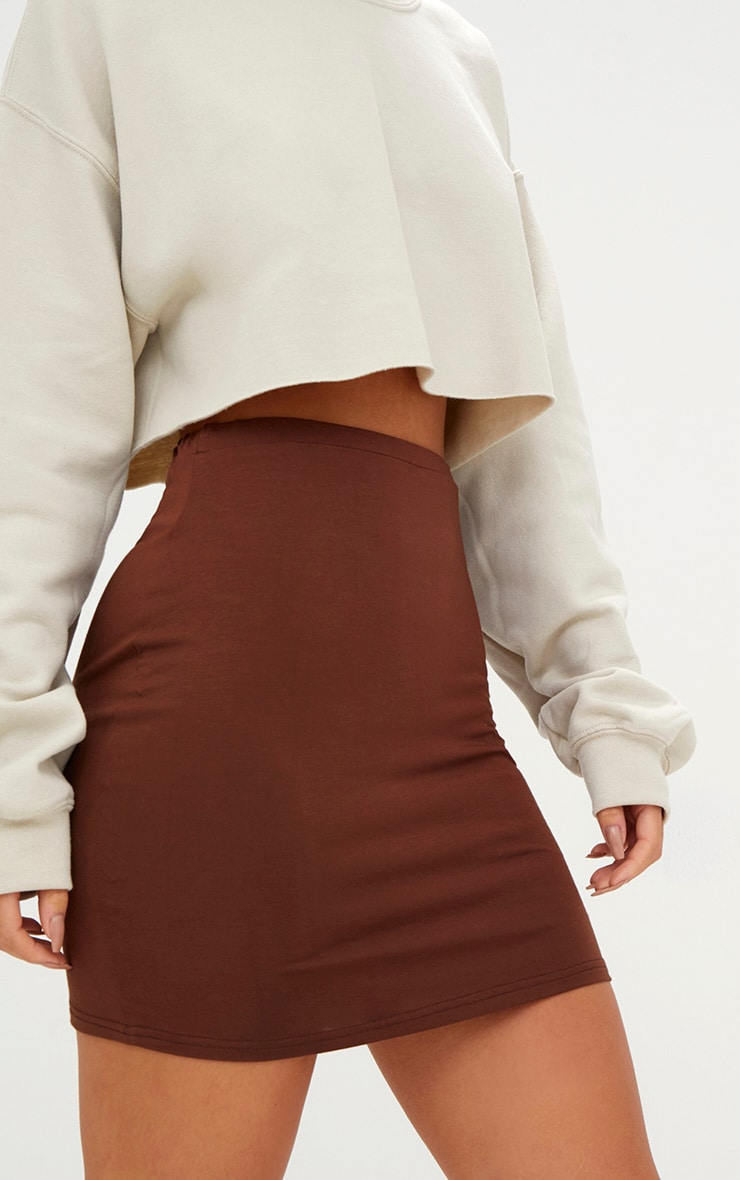 Chocolate Brown Ultimate Jersey Mini Skirt 6
