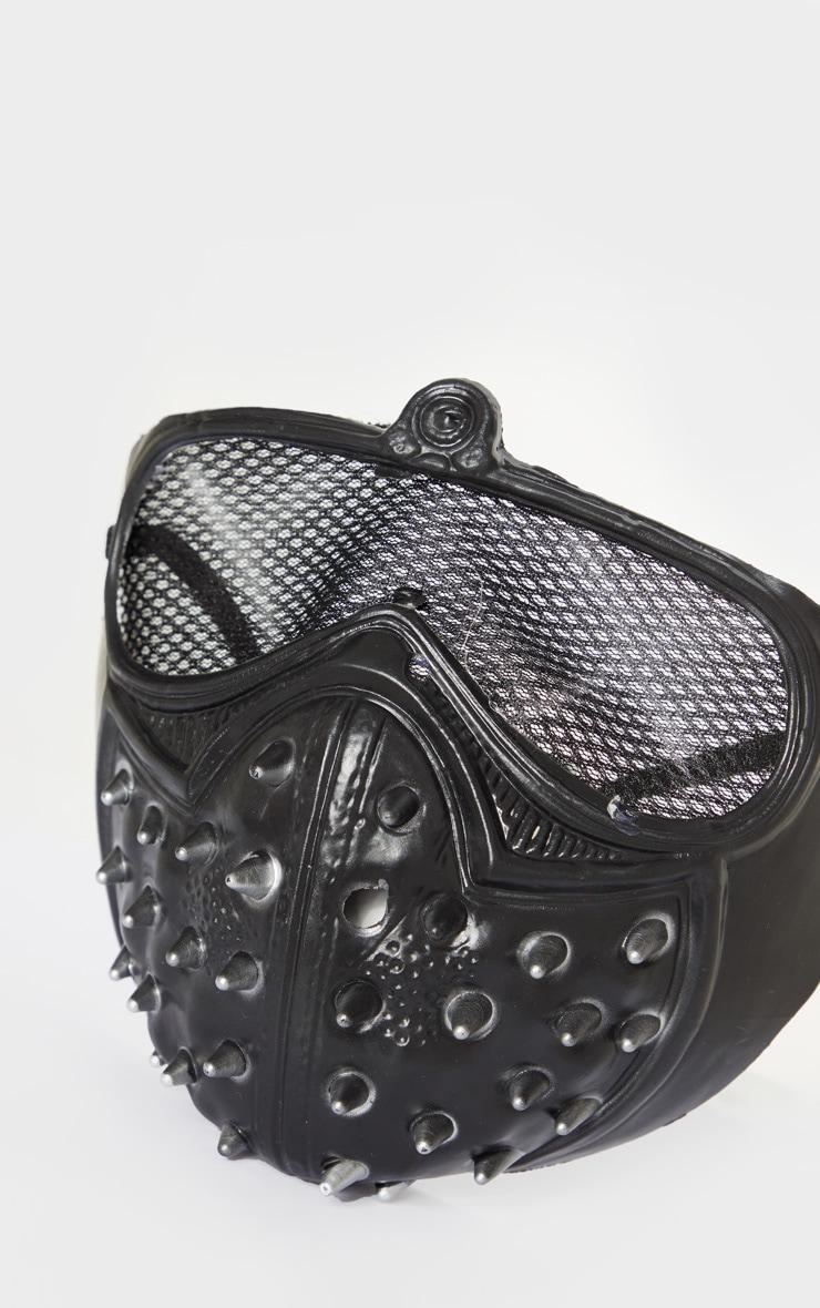 Black Studded Mask 3