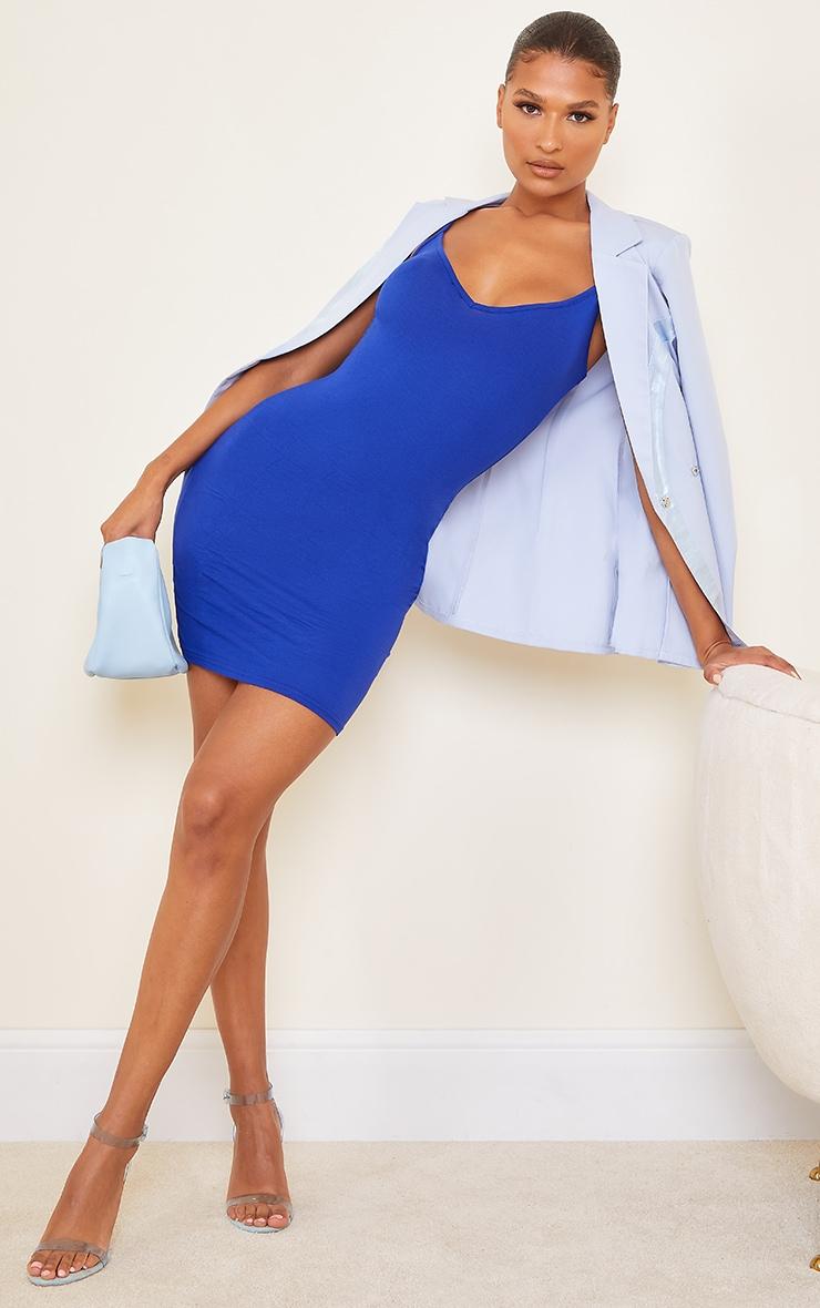 Cobalt Extreme Plunge Strappy Bodycon Dress 3